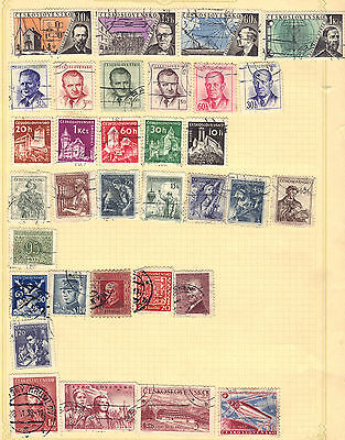 CZECHOSLOVAKIA Old Stamp Collection Used REF:B611