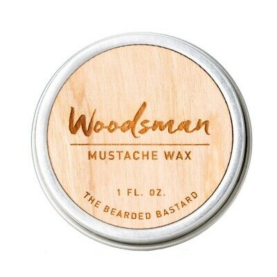 The Bearded Bastard Moustache Wax The Woodsman Strong Hold