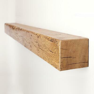 4x4 Reclaimed Solid Oak Mantel Shelf by Funky Chunky Furniture