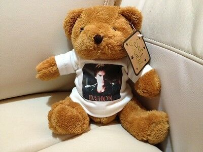 DAMON SALVATORE The Vampire Diaries T SHIRT FOR TEDDY BEAR/DOLL IAN SOMERHALDER