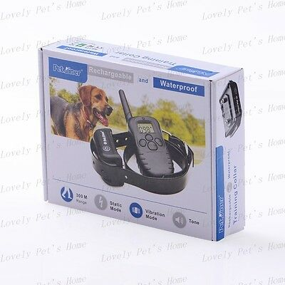 2013 New 300M Remote Pet Dog Training No Bark Stop Collar System For 1,2 Dogs