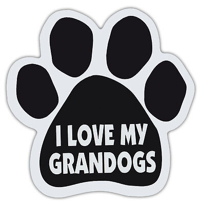 Dog Paw Shaped Magnets: I LOVE MY GRANDOGS | Dogs, Gifts, Cars, Trucks