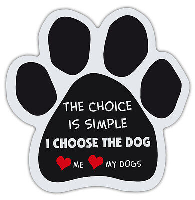 Dog Paw Shaped Magnets: SIMPLE, LOVE ME, LOVE MY DOGS | Dogs, Gifts, Cars