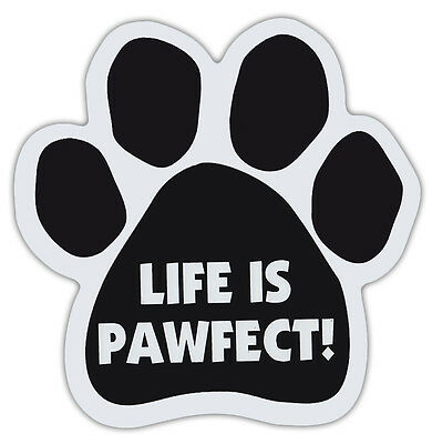 Dog Paw Shaped Magnets: LIFE IS PAWFECT! | Dogs, Gifts, Cars, Trucks