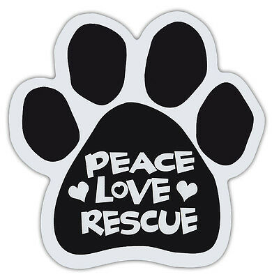 Dog Paw Shaped Magnets: PEACE LOVE RESCUE | Dogs, Gifts, Cars, Trucks