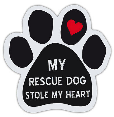 Dog Paw Shaped Magnets: MY RESCUE STOLE MY HEART | Dogs, Gifts, Cars, Trucks