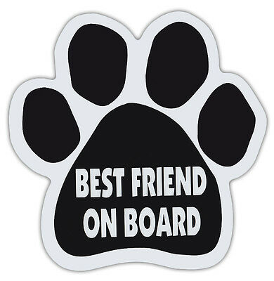 Dog Paw Shaped Magnets: BEST FRIEND ON BOARD | Dogs, Gifts, Cars, Trucks