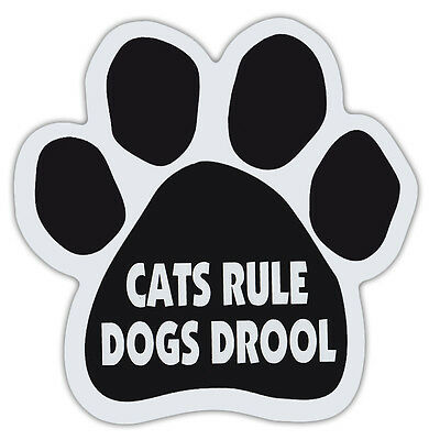 Cat Paw Shaped Magnets: CATS RULE, DOGS DROOL (FUNNY) | Cats, Gifts, Cars