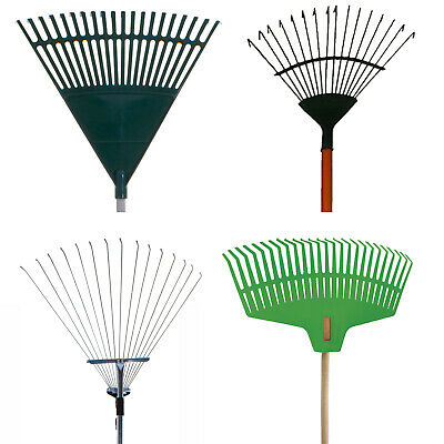 Garden Rakes Lawn Rakes Leaf Adjustable Plastic Metal Gardening Tools Leaf New