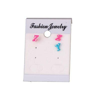 100PCS  2x1.46 inch White Paper Stud Earrings Jewelry Display Hanging Cards Tags