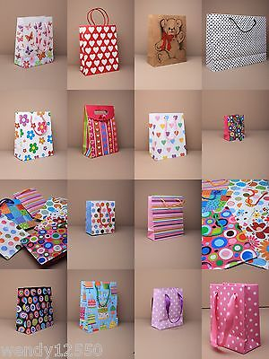 Patterned Gift Bags : Choose Colour, Size & Quantity Cheapest On Ebay: Wholesale