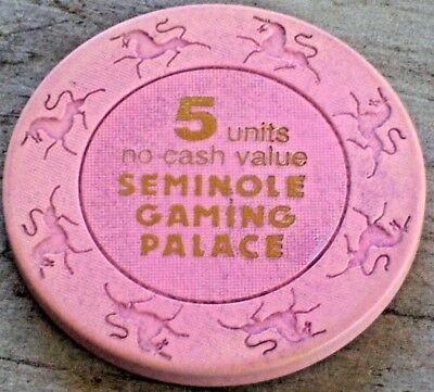 5 Units Ncv Gaming Chip From The Seminole Indian Casino, Tampa Fl