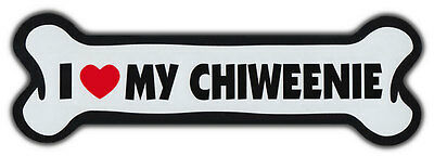 GIANT SIZE!!! Dog Bone Magnet: I Love My Chiweenie | Cars, Trucks, Refrigerators
