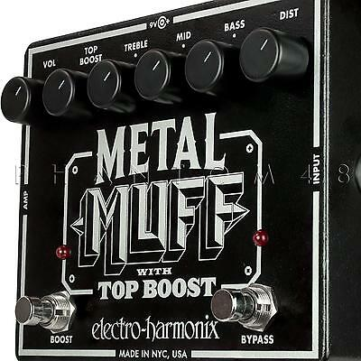 Electro-Harmonix Metal Muff Distortion Guitar Effects Pedal with Top Boost NEW