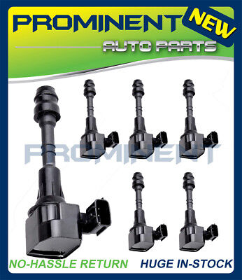 New Set of 6 Ignition Coils for 03-15 For Nissan 4.0L 3.5L UF349 C1406 5C1403