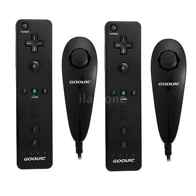 2X REMOTE AND NUNCHUCK CONTROLLER FOR NINTENDO WII+ SILICONE CASE BLACK US