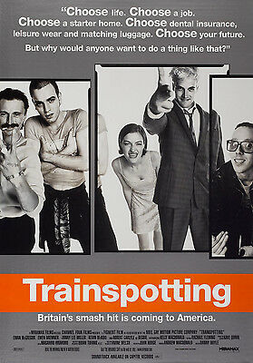 """TRAINSPOTTING ""  Vintage Movie Poster A1A2A3A4Sizes"