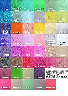 Colored Sand 6oz (1/2 cup) 125+ Colors Available* Unity Ceremony, Wedding, Craft