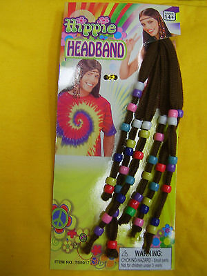 Hippie Headband Costume 60's 70's Fancy Dress Up Party