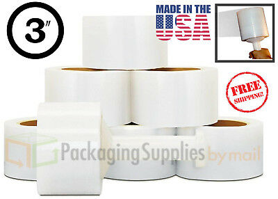 """3"""" in. x 600FT 150 Gauge 72 Rolls Stretch Shrink Film Hand Wrap with Free Ship"""
