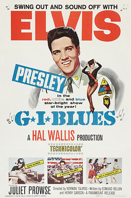 """""""G.I BLUES"""" ELVIS PRESLEY .Classic Movie Poster A1A2A3A4 Sizes"""