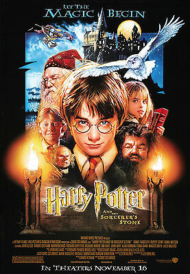 """HARRY POTTER & THE SORCERERS STONE ""  .Classic Movie Poster A1A2A3A4 Sizes"