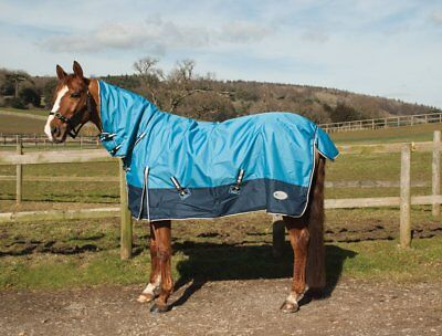 """Rhinegold Torrent Lightweight Combo Turnout Rug 4 COLOURS sizes 4'6"""" up to 7'0"""""""