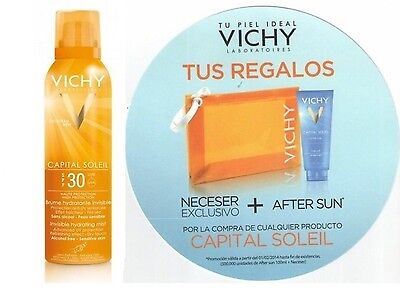 Nuevo Fotoprotector Vichy Bruma Invisible Spray Spf30 + Regalo Neceser Aftersun