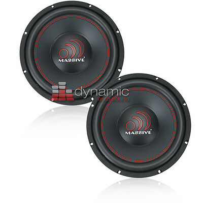 "(2) Massive Audio TKO-124 12"" Dual 4 Ohm TKO Series Car Audio Subwoofer New"