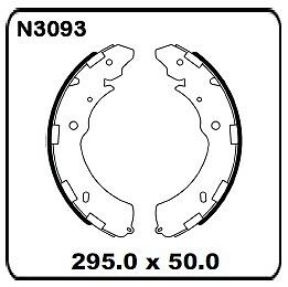 Mitsubishi Triton ML & MN 2007 onwards REAR Drum Brake Shoe SET N3093