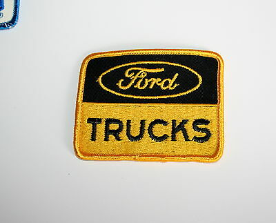 2 Vintage Ford Trucks Yellow Automotive Car Cloth Patch New NOS 1980s
