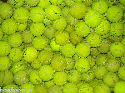 100 Used Tennis Balls For Kids, Dogs, Backyard Games Etc