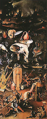 Garden of Earthly Delights right wing  artiste tableau huile sur toile peinture