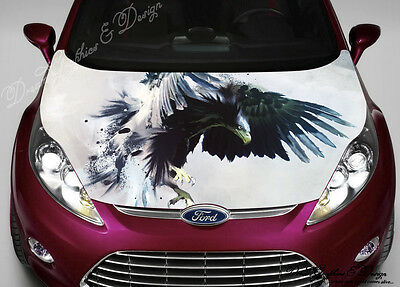 DRAGON Full Color Graphics Adhesive Vinyl Sticker Fit Any Car Hood - Custom vinyl decals for car hoodssoldier full color graphics adhesive vinyl sticker fit any car