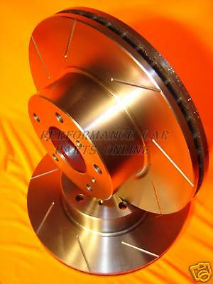 SLOTTED FULL SET Holden Commodore VE V8 SS Front & Rear VMAX Disc Brake Rotors