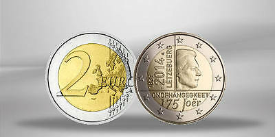 LUXEMBOURG 2 Euros 175 Years of Independence 2014 en rouleau