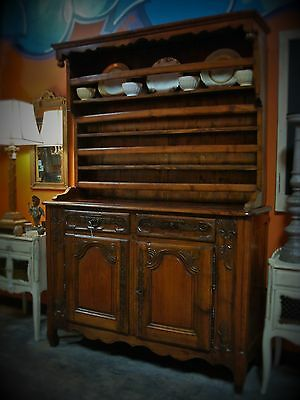 Late 1700's  Walnut French Country Vaisselier / Cupboard