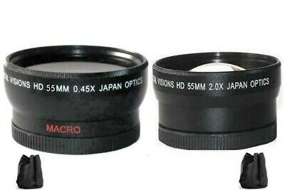 Wide Angle Lens / 2X Telephoto Lens For FUJI S5600 S5500 S5200 S5100 S5000 S3100
