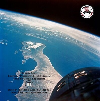 Gemini 5 Space Flown Checklist Segment 8x8 Presentation (NASA)