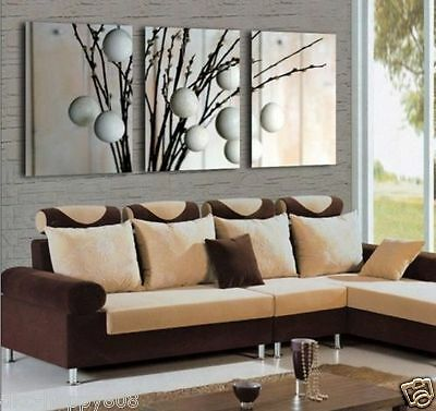 NEW - 3PC Modern Flower Oil Painting on Canvas Art(No Frame)sds