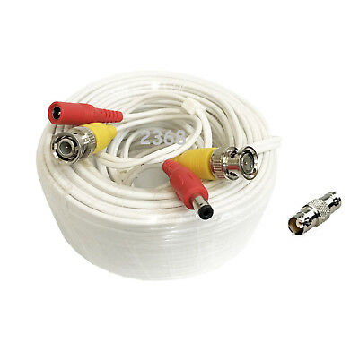 200ft High Quality Video Power BNC Cable for Lorex CCTV Cameras White