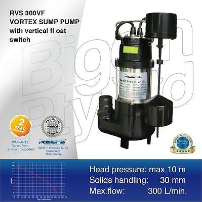 Reefe RVS300 V/Float Submersible Sump Pump  Dirty Water, Grey Water, Waste Water