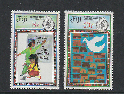 Fiji 1986 Peace Year Sg 736-737 Mnh.