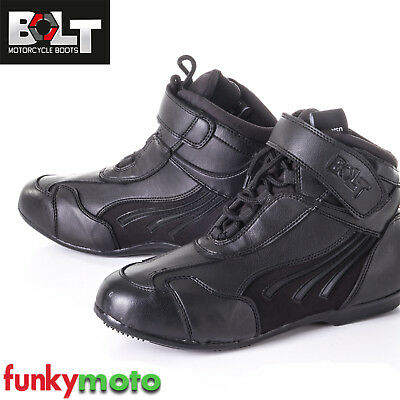 Motorcycle Boot Bolt R22 Short Reinforced Ankle Racing Protection Biker Shoes