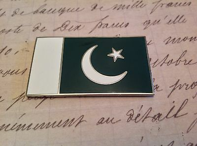 PAKISTAN HARD ENAMELLED CAR BADGE WITH 3M S/A