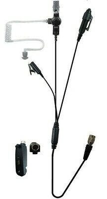 Quick Release 3 Wire Lapel Mic Headset Motorola Xpr6550 Xpr6500 Xpr6350 Xpr6580