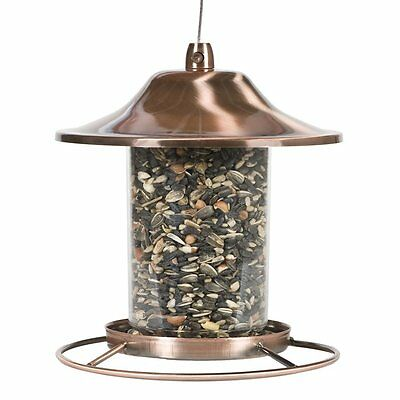 Perky Pet Copper Panorama Bird Feeder With 2 Pound Seed Capacity