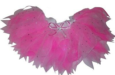 Neon Pink Tutu Skirt 80s Fancy Dress Hen Party Costume Fun Run Sparkle Ladies