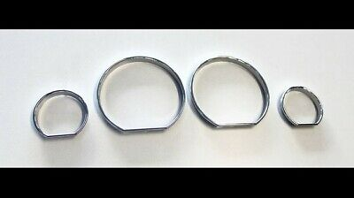 BMW E46 M3 M Chrome Speedometer Gauge Dial Rings Bezel Trim Speedo AC/Tech Sport