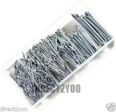 Rolson 500 pc Cotter Pins Split Pin Fixings Assorted set + storage case